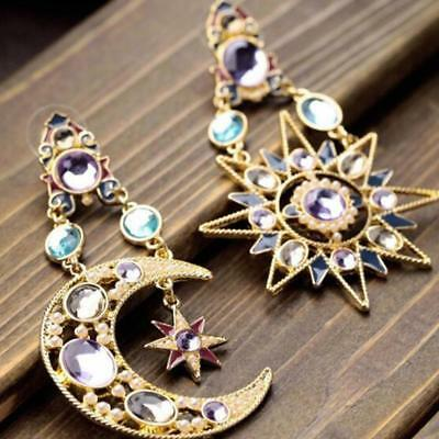 Fashion Women earring set auger goddess of the sun moon star Dangle earrings