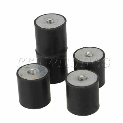 5PCS DE M8 30 x 30 Female Thread Flat Base Rubber Isolator Replace Silentblock
