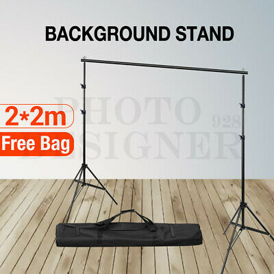 Photo Heavy Duty Crossbar Backdrop Background Support Stand f Muslin Paper Cloth