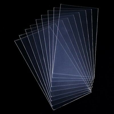 100Pcs Paper Money Stamps Sleeves Holders Transparent World Banknotes Bags AU