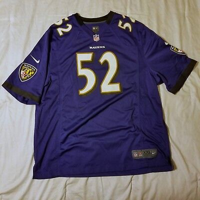 d8d0ee44 BALTIMORE RAVENS NIKE home jersey Ray Lewis mens XXL purple