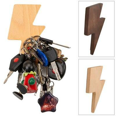 1pcs Lightning wooden wall hanging Strong magnetic wooden hook hook hanger Home