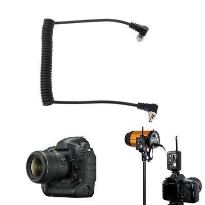 Camera Male to Male M-M Flash PC Sync Cable Cord with Screw Lock For Canon Nikon