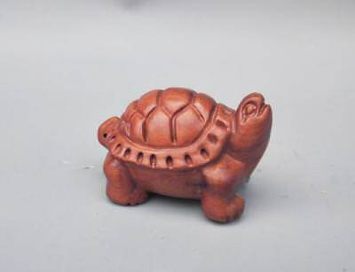 Chinese wood carving tortoise small statue