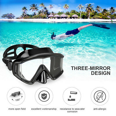 180° Snorkeling Lens Diving Scuba and Swimming Mask for Adult&Kids Anti-Fog US