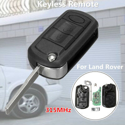 For Land Rover Discovery Keyless Entry Flip Remote Uncut Key Fob & Chip 315MHz