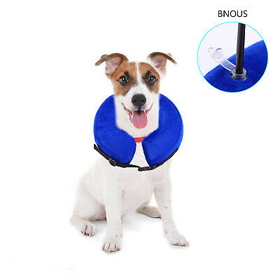 Dog Elizabethan Inflatable Collar Postoperative Wound Healing for All Dogs Cats