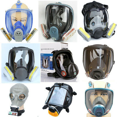 Safety Chemical Painting Spray Pesticide Gas Mask Full Face Anti Dust Respirator