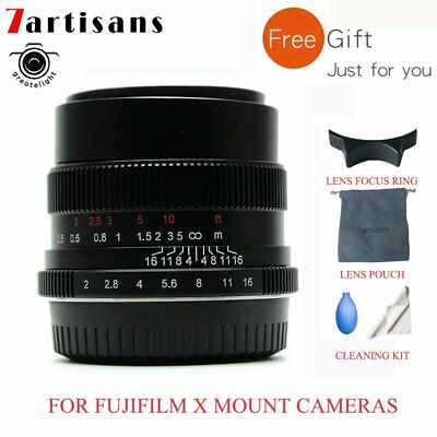 7artisans 35mm F2.0 Manual Focus Lens For Fujifilm X Mount Cameras X-M1 X-PRO1