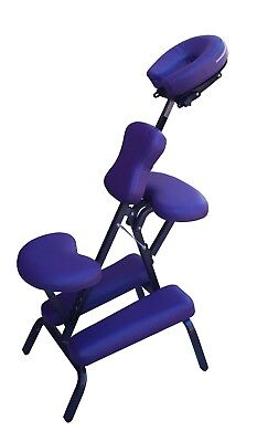 CHAISE DE MASSAGE G7P Violet Amma Assis Shiatsu Pliable Portable