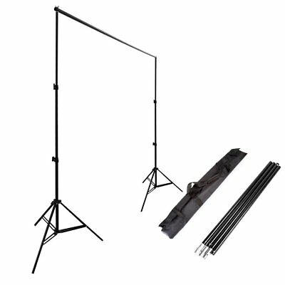 Photo Studio 2x3m Backdrop Background Support System Stand Telescopic Crossbar