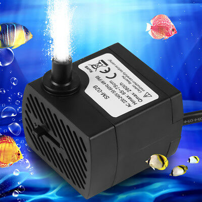 2/2.5/4W Ultra-Silencieuse Pompe à Eau Submersible Aquarium Tank Fontaine EU