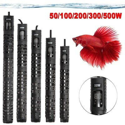 Aquarium Fish Tank Hot Water LED Digital Heater 50-500W Thermostat Submersible