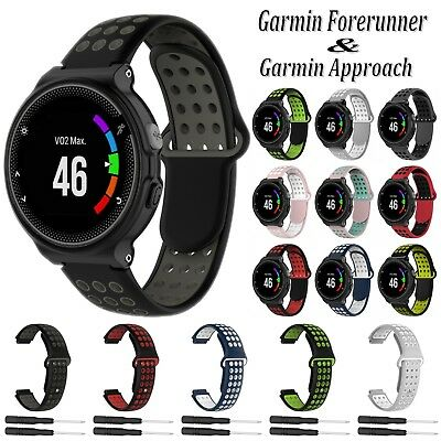 Silicone Wrist Watch Strap Band For Garmin Forerunner 620 735 Approach S20 S6