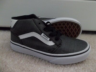 8b99007a68 Nwt Vans Boys youth Chapman Mid Textile Sneakers shoes Sze 13.brand New