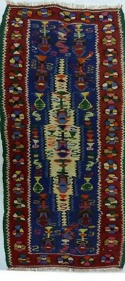 kilim Persan Traditionnel Oriental hand made 126 cm x 57 cm  N° 47