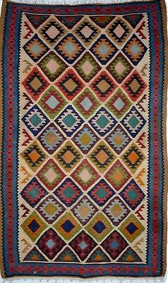 kilim Persan Traditionnel Oriental hand made  170 cm x102 cm  N° 36