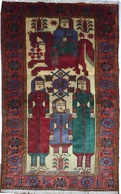 Tapis Persan Traditionnel Oriental hand made  225 cm x122 cm  N° 38