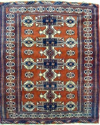 Tapis Persan Traditionnel Oriental hand made 132 cm x 110 cm  N° 61