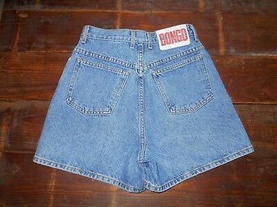 Vtg BONGO by Gene Montesano Shorts Denim Shorts High Waist size 9 USA 80s 90s