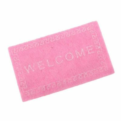 Doll House Miniature carpet WELCOME Mat Dollhouse Accessories Home & Living D5I1