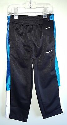 188ee4f62d5d NWT  30 Nike Boys SIZE 4 Tricot Athletic Pants BLACK BLUE Track SPORT   642515