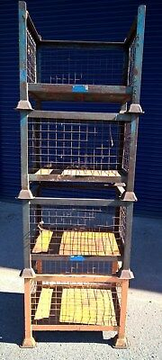4 Metal Stillage Cages, stackable, 765 x 610 x 460mm