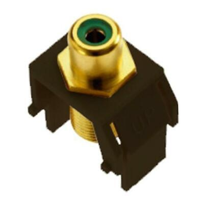 Legrand - On-Q WP3463BR Green RCA to FConnector, Brown