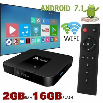 Superview TX3 Mini 2GB 16GB Android 7.1 Quad Core TV Box HD WIFI UK