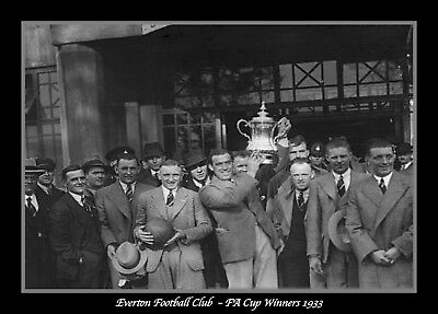 Photograph/Print/7 x 5 Photo/Everton FC/FA Cup Winners 1933/Cup Final/Wembley