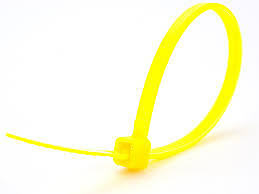 "8"" Inch Nylon Yellow Cable Wire Zip Ties 50 lbs Strength-100 pack - Ships Today"