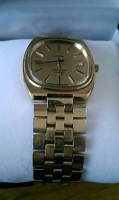 Omega Seamaster Gold Armbanduhr Quartz Datum Swiss Made defekt