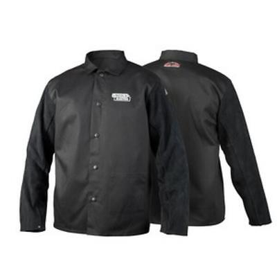 Lincoln Electric K3106-M Traditional Split Leather Sleeved Welding Jacket, MD