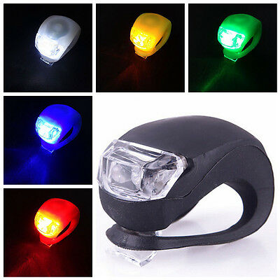 New Silicone Bike Bicycle Cycling Head Front Rear Wheel LED Flash Light Lamp BJ