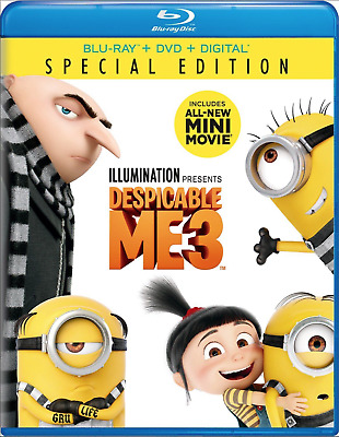 Despicable Me 3 Special Edition (Blu-ray, DVD, Digital HD) Brand New