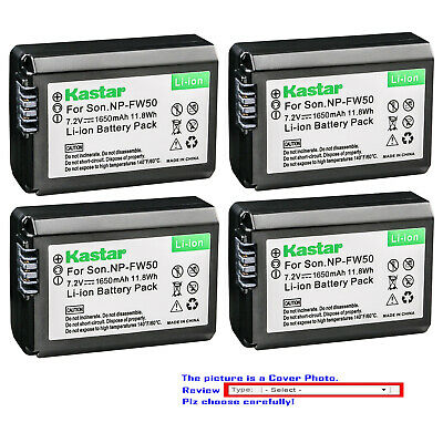 Kastar Replacement Battery for Sony Genuine NP-FW50 & Sony OEM BC-VW1 BC-TRW