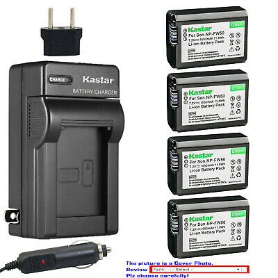 Kastar Battery AC Travel Charger for Sony NP-FW50 BC-VW1 & ILCE-6000 Alpha a6000