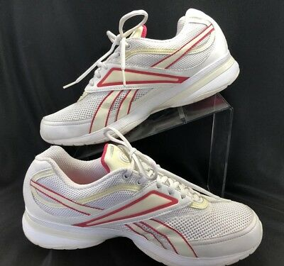 7398f93d4e009 REEBOK WOMENS EASY Tone Fitness Shoes White Pink Size US 10 White ...