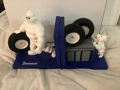 Michelin Man And Dog Bookends