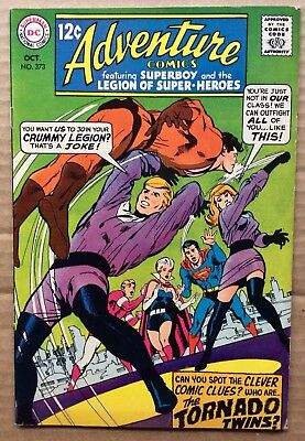 ADVENTURE COMICS #373 (1968) DC Silver Age Superboy, Legion of Super-Heroes F/VF