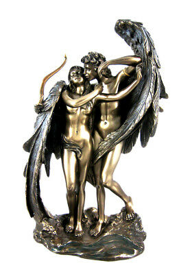 "Ancient Greek Methalogy Cupid and Psyche 9"" Cold Cast Bronze Statue"