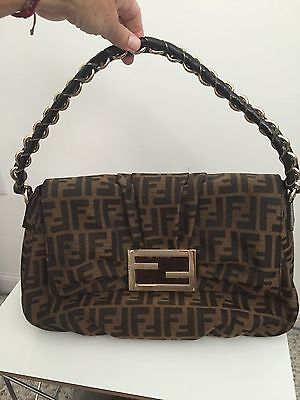 b5abc7a8c39a Authentic Fendi Zucca Mama Forever Shoulder Bag in NEW Excellent Condition