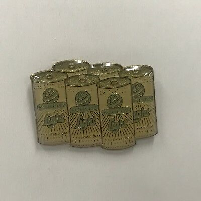 RARE! VTG SCHLIYZ LIGHT SIX PACK Beer Brew 1980s Advertising Lapel Hat Tie Pin