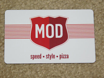 MOD PIZZA GIFT CARD (New - No Balance on Card)