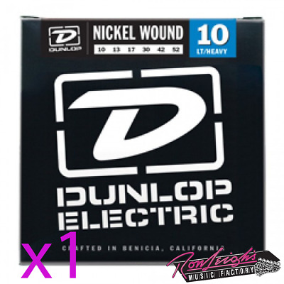 Jim Dunlop 10/52 Nickel Wound Light Heavy Electric Guitar Strings - 1 Set