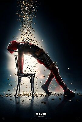 Deadpool 2 Movie Poster (24x36) - Ryan Reynolds, Morena Baccarin, Josh Brolin v1