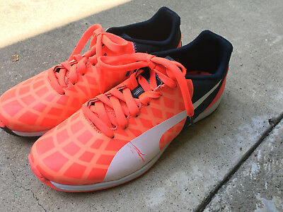 Blast Puma Evospeed 1.4 Lth Fg Lava Total Eclipse White Mens