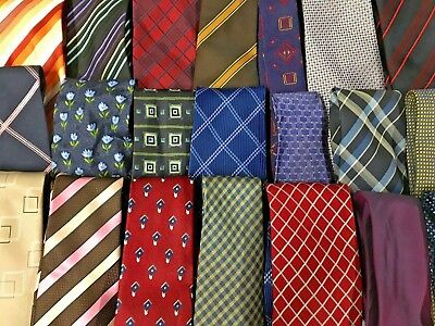 100 Mens Ties Wholesale Mixed Colours Designs Silk & Polyester Modern & Vintage