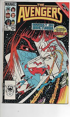 Avengers #260 Nm- 1985 Origin Of Nebula Secret Wars 2