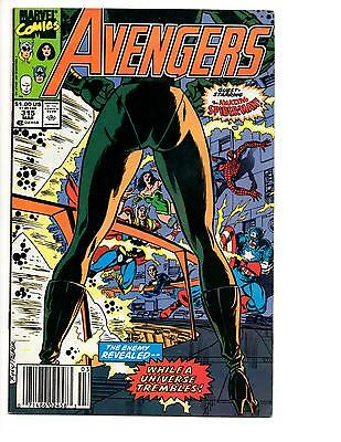 Avengers #315 (1990) Nm- Spider-Man Joins Avengers! John Byrne Newsstand Edition
